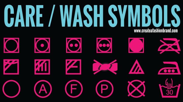 RESOURCE: 74 Care Symbols for Fashion Labels - Create A